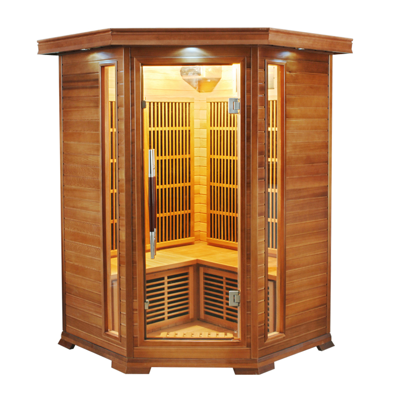 Sauna infrarouge angulaire luxe 2 3 places france sauna - Sauna infrarouge 2 places ...