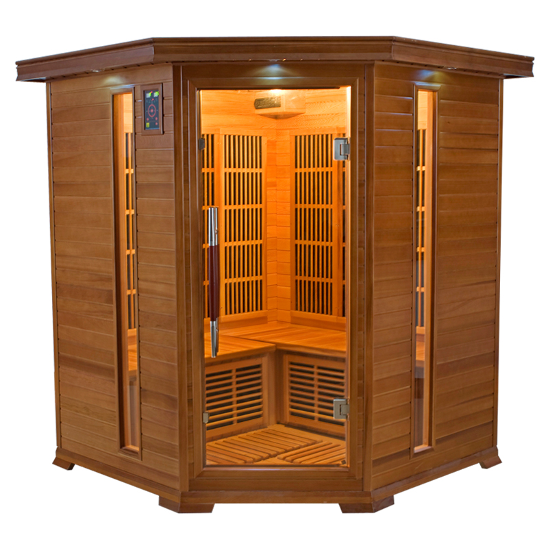Sauna infrarouge luxe 3 4 places france sauna - Sauna infrarouge 4 places ...