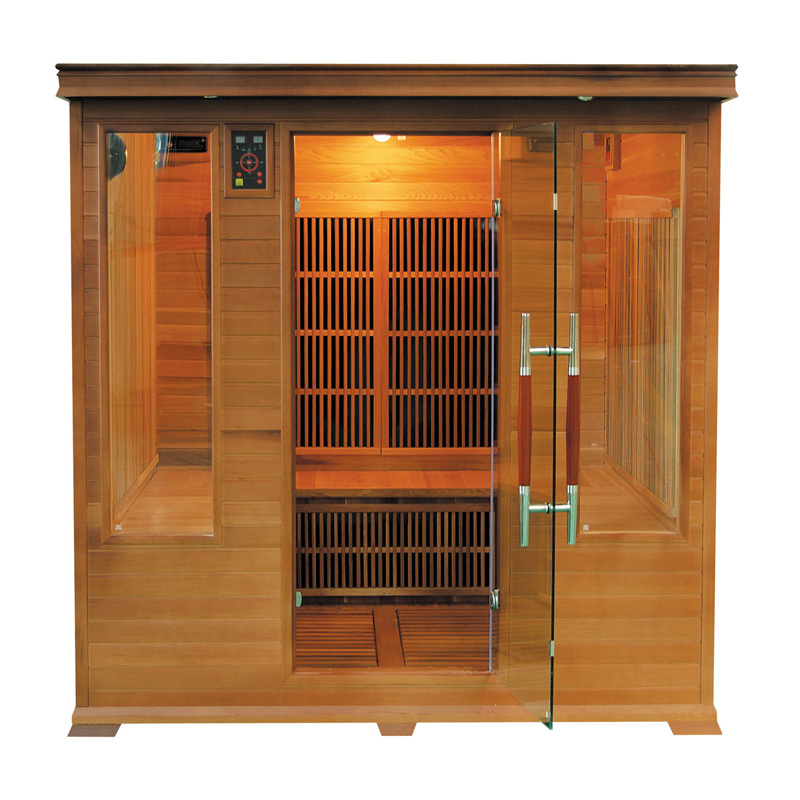 Sauna infrarouge luxe club 4 places france sauna - Sauna infrarouge 2 places ...