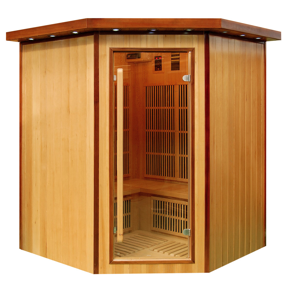 Sauna infrarouge koulou 3 4 places par france sauna for Sauna infrarouge exterieur