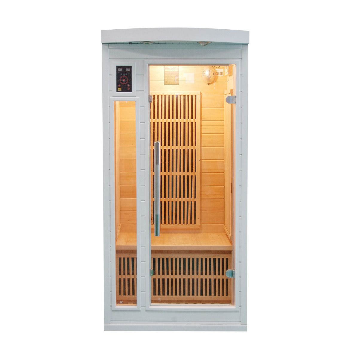 Sauna infrarouge soleil blanc 1 place france sauna - Sauna infrarouge 2 places ...