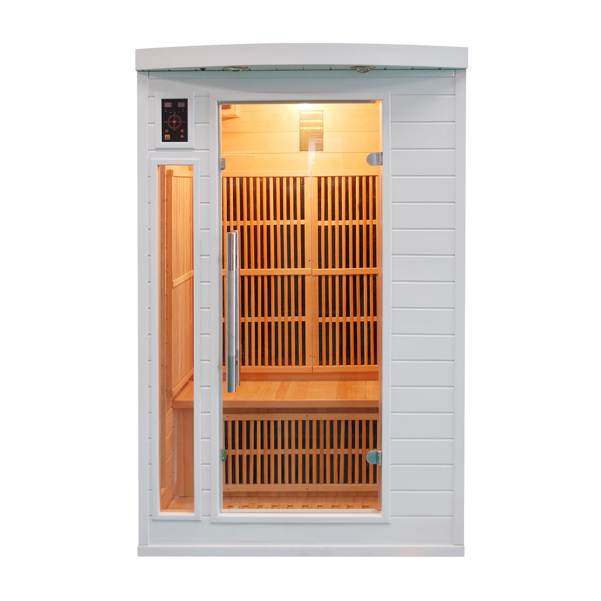 Sauna infrarouge soleil blanc 2 places france sauna - Sauna infrarouge 3 places ...