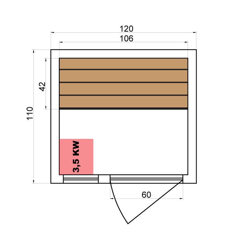 sauna vapeur zen 2 places france sauna. Black Bedroom Furniture Sets. Home Design Ideas